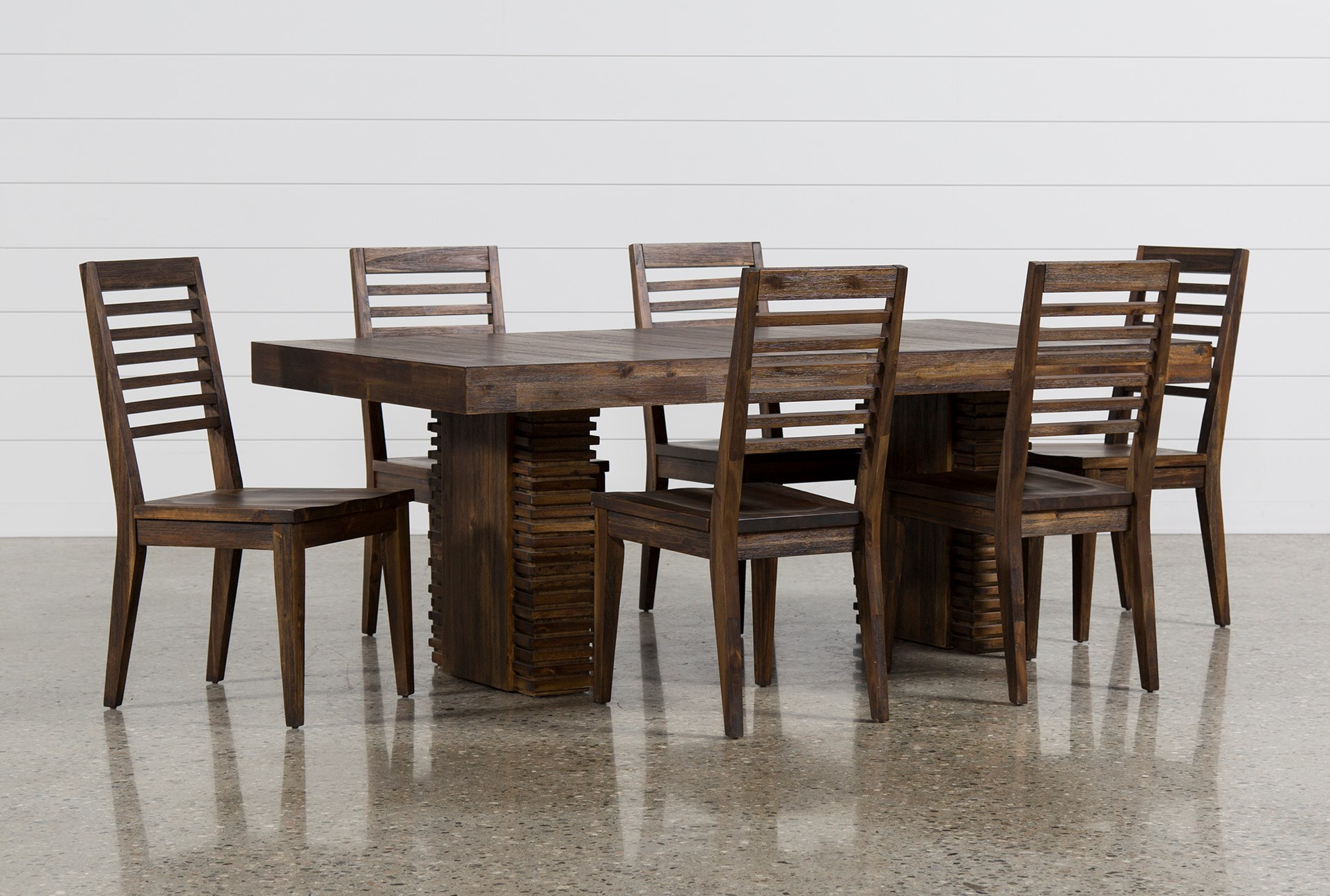 Dining room sets living spaces display product reviews for kit teagan 7 piece extension dining set dzzzfo