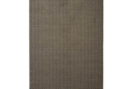 93X128 Rug-Ariah Charcoal Herringbone