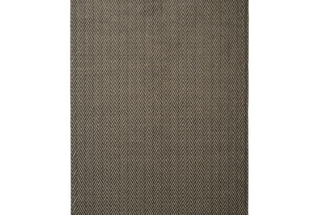 93X128 Rug-Ariah Charcoal Herringbone - 360