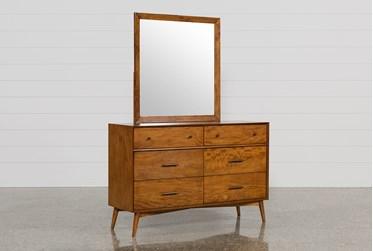 Alton Cherry Dresser/Mirror