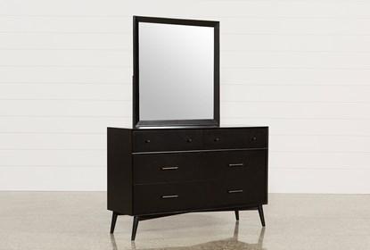 Alton Black Dresser Mirror