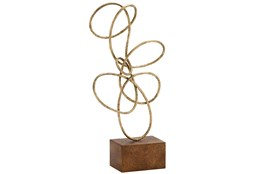22 Inch Gold Abstract Sculpture