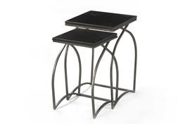 Tatiana 2 Piece Black Nesting Tables