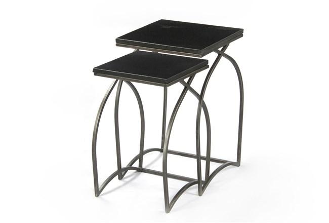 Tatiana 2 Piece Black Nesting Tables - 360