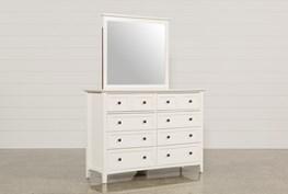 Copenhagen White Dresser/Mirror