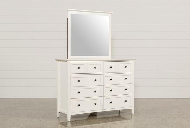 Copenhagen White Dresser/Mirror - 360