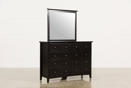 Copenhagen Black Dresser/Mirror