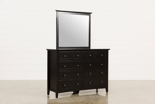 Copenhagen Black Dresser/Mirror - 360