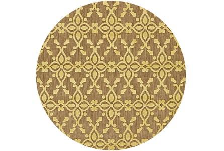 90 Inch Round Rug-Byron Yellow