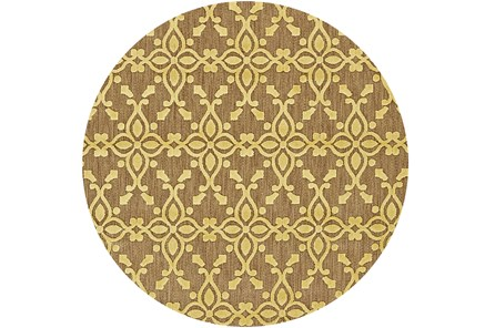 90 Inch Round Rug-Byron Yellow - Main