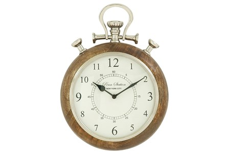 10 Inch Wood & Metal Wall Clock