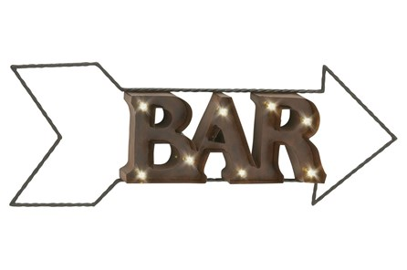 Metal Led Wall Sign-Bar - Main