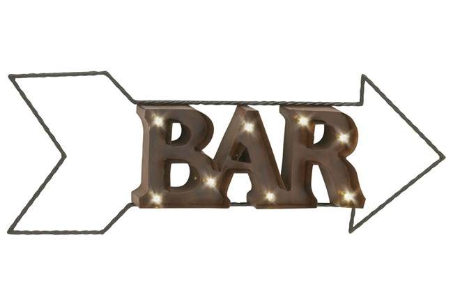 Metal Led Wall Sign-Bar - 360