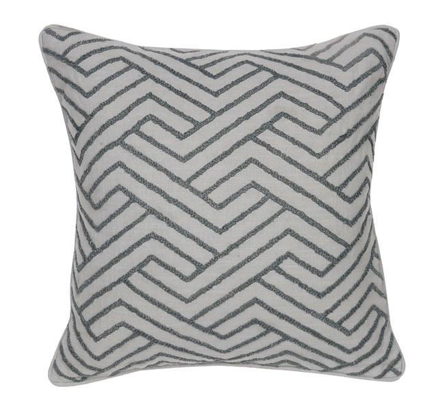 Accent Pillow-Emery Grey Zig Zag 22X22 - 360