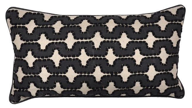 Accent Pillow-Nico Waves Black 14X26 - 360