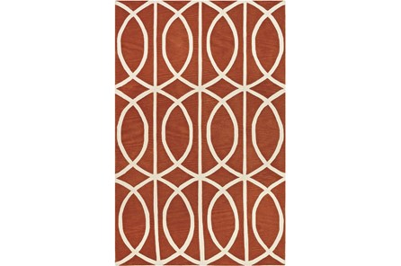 96X120 Rug-Auberon Orange - Main