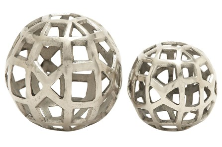 2 Piece Set Aluminum Orbs - Main