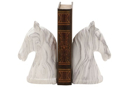 2 Piece Set Horse Bookends
