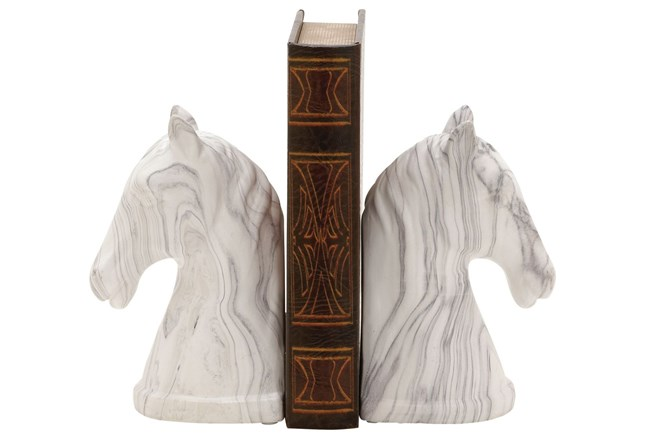 2 Piece Set Horse Bookends - 360
