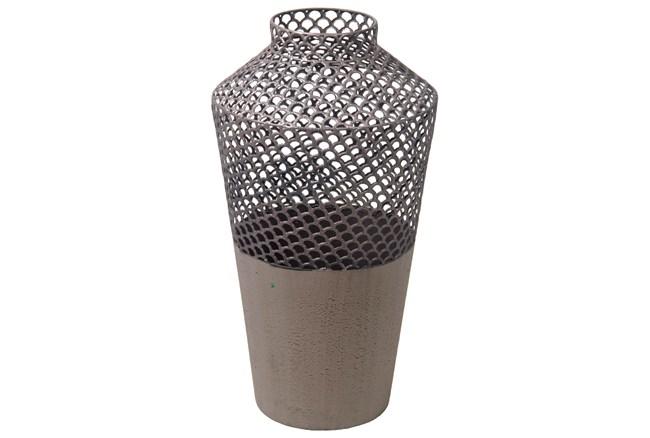 Mesh Metal Vase Large - 360