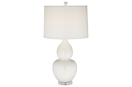 Table Lamp-Leona White