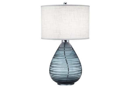 Table Lamp-Rictor Blue Glass