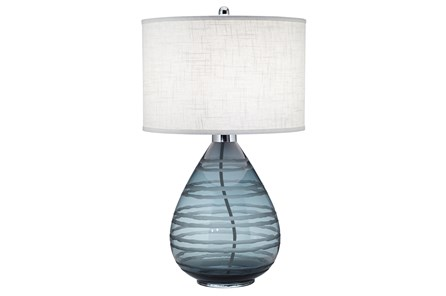 Table Lamp-Rictor Blue Glass - Main