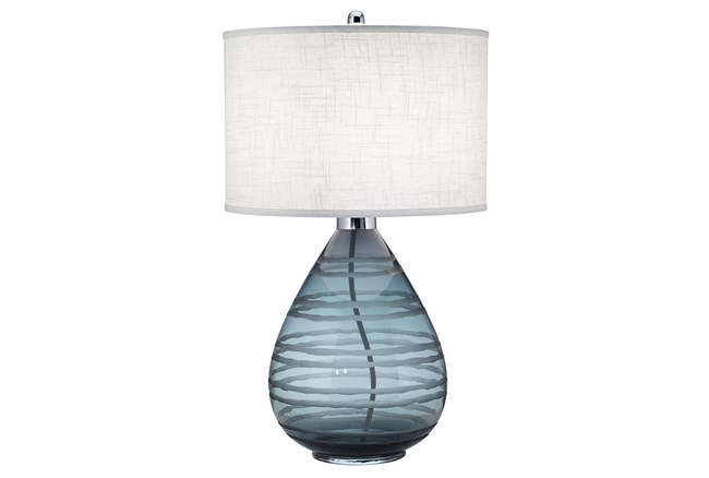 Table Lamp-Rictor Blue Glass - 360