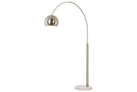 Floor Lamp-Haight Nickel Arc