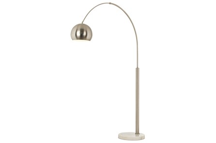 Floor Lamp-Haight Nickel Arc - Main