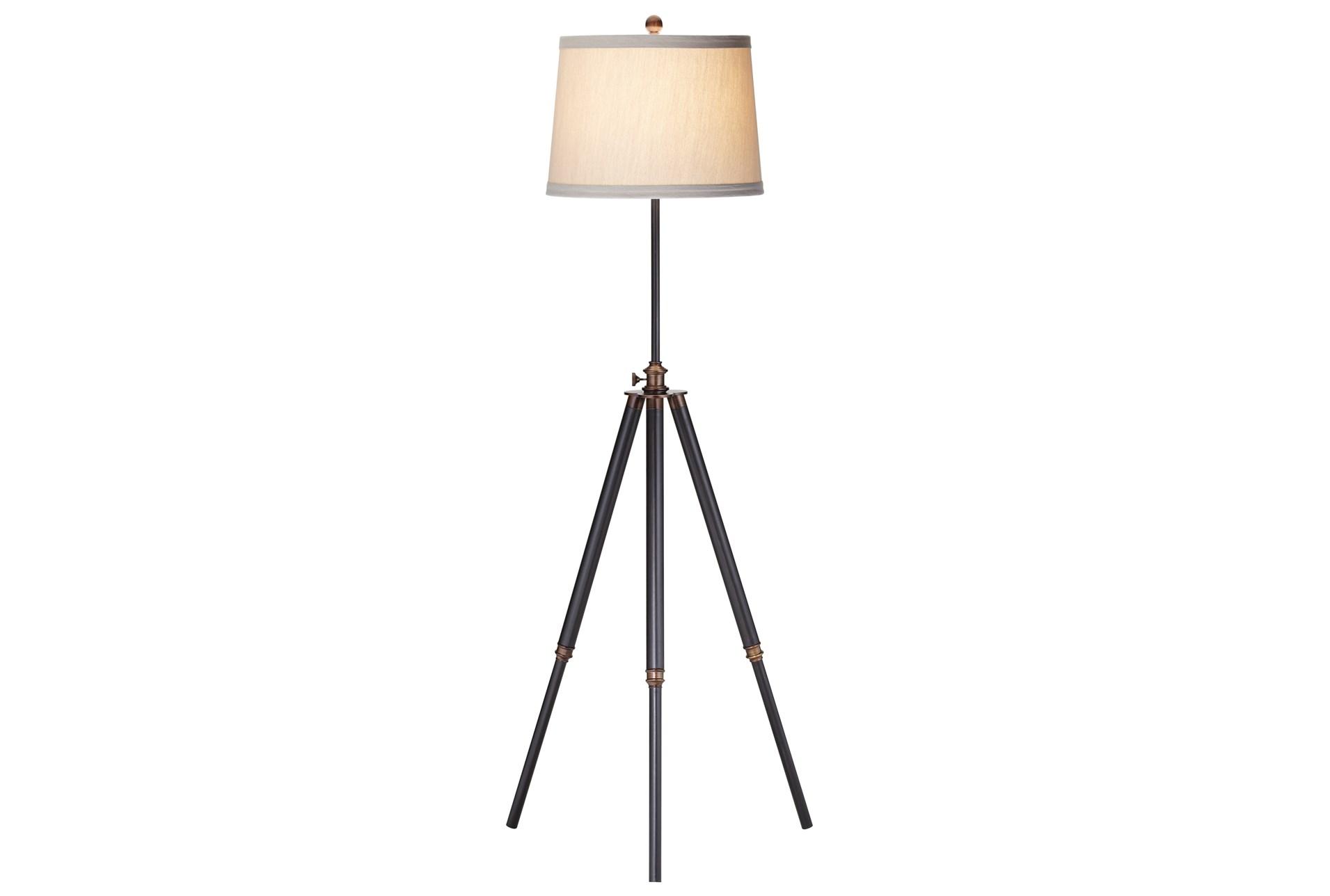 Floor Lamp Bixler Dark Bronze Tripod