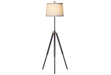 Floor Lamp-Bixler Dark Bronze Tripod