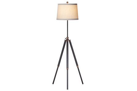 Floor Lamp-Bixler Dark Bronze Tripod