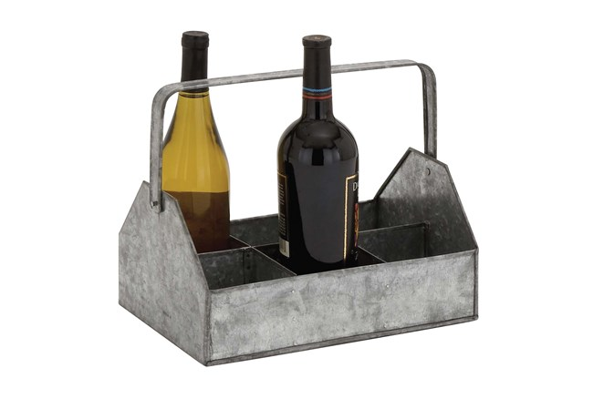 10 Inch Metal Wine Caddy - 360