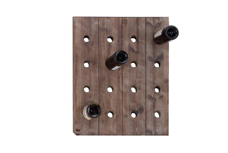 Wooden Wall Wine Rack