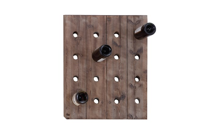 Wooden Wall Wine Rack Living Spaces