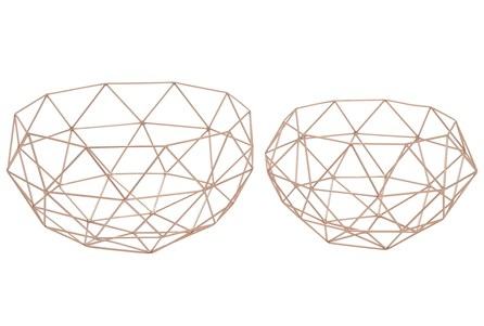 2 Piece Set Metal Baskets