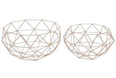 2 Piece Set Metal Baskets