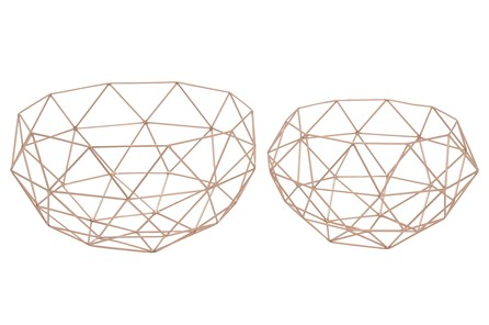 2 Piece Set Metal Baskets - Main