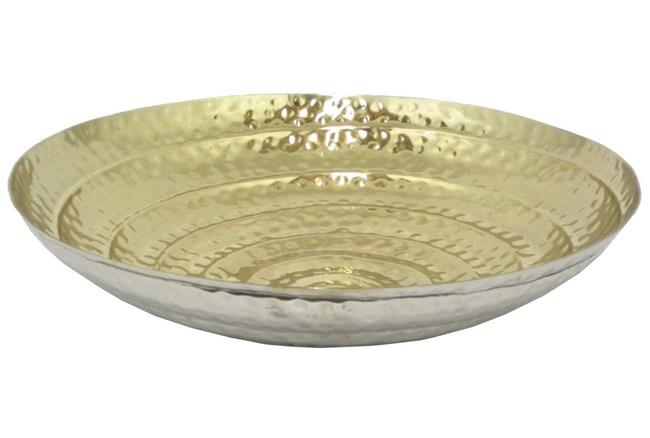 Silver & Gold Aluminum Bowl Small - 360