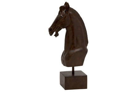 17 Inch Horse Head On Stand - Main