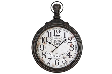 28 Inch Wooden Wall Clock - Main
