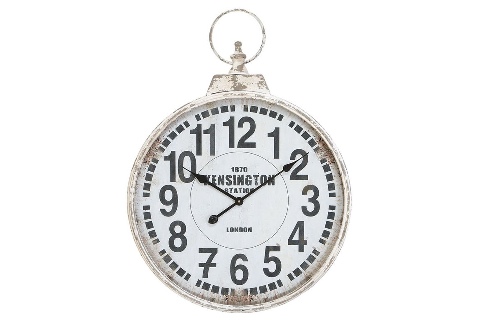 24 Inch Silver Metal Wall Clock Living Spaces