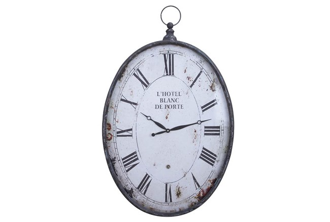 23 Inch Metal Wall Clock - 360