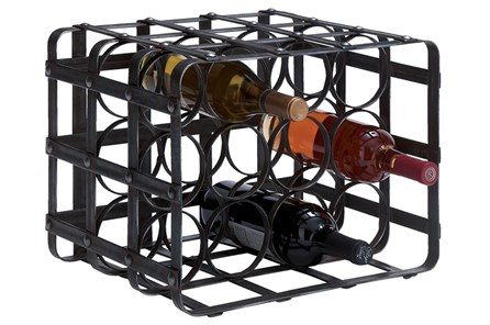 12 Inch Metal Wine Rack - Main