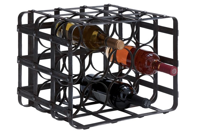 12 Inch Metal Wine Rack - 360
