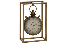 13 Inch Metal Table Clock