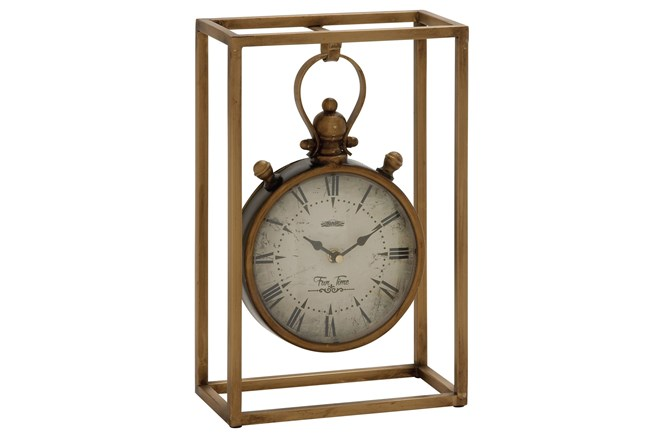 13 Inch Metal Table Clock - 360