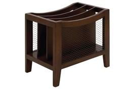 Wooden Chairside Magazine Rack
