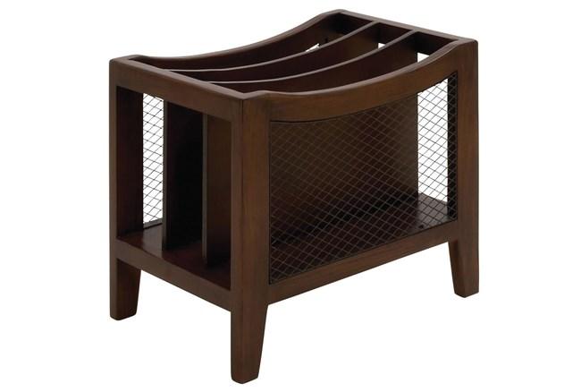 Wooden Chairside Magazine Rack - 360